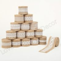 Jute Burlap Lace Ribbon Roll