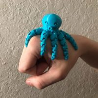 Small 3D Printed Articulated Octopus Toy