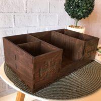 Personalized Wooden Organizer Storage