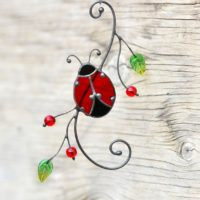 Ladybug Stained Glass Suncatcher