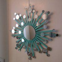 Atomic starburst mirror wall art