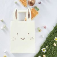5 Rose Gold & Pastel Bunny Treat Bags