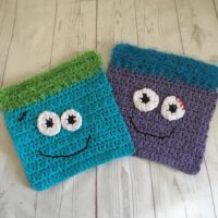Monster Kids Wash Cloths Set