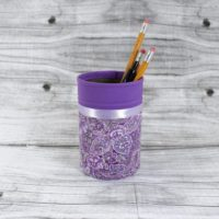 Purple Pencil Holder