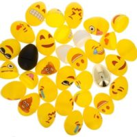 Set of 24 Emoji Eggs + 1 Gold, 1 Black, 1 White & 1 Yellow Plastic Easter Eggs