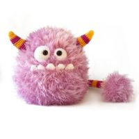 Bibi the cotton candy monster Amigurumi crochet toy pattern PDF