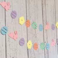 Die Cut Easter Bunny Garland Decorations
