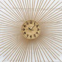 """27"""" Gold Sunburst Clock"""