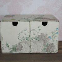 Vintage Cardboard Drawers Craft Storage Cardboard Organizing Drawers Floral Drawers Whitmor