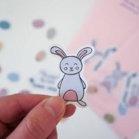 Cute Bunny - Bunny Sticker - Easter Sticker - Easter Bunny - Cute Easter Sticker - Pink Rabbit Sticker