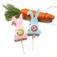 Easter Bunny Lollipop Holder Template