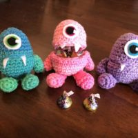 Crochet candy monster