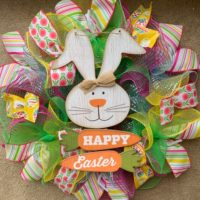 Happy Easter Mesh Wreath