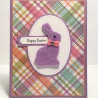 Cute Purple Easter Bunny Card