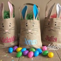 EASTER! Personalized Easter Bunny Bags