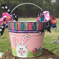 Personalized painted Easter bucket pail