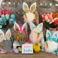 Easter Bunny Gnome Collection, Farmhouse Easter Spring Decor