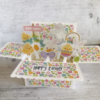 Easter Scalloped pop up Box Card