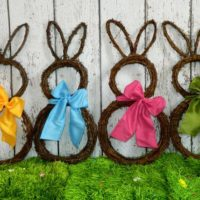 Easter Wreath Shaped Like Bunny