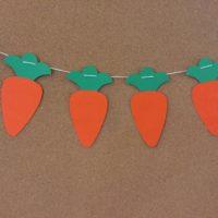 Carrot Easter Garland