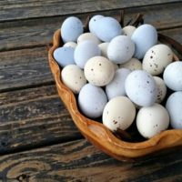 Artificial Speckled Easter Eggs for Crafting