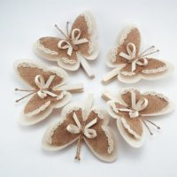 Set of 5 Clothes Pins with Butterfly Wings,