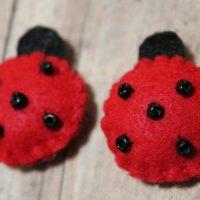 Lady bugs-Handmade felt ladybugs