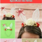 Lace bunny ear headband collage