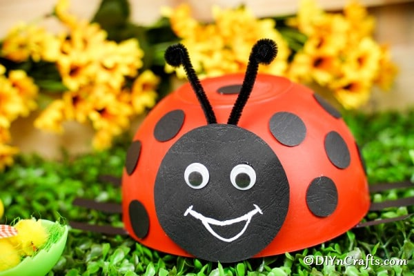 Cute Upcycled Bowl Ladybug Decoration