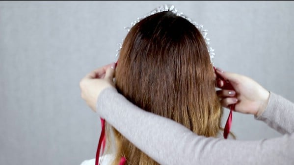 Adding beaded hairband