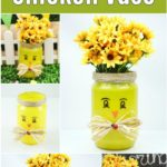 Painted jar chicken collage