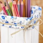Pencils in a craft stick organizer