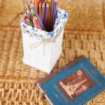 craft stick pencil case on wooden mat
