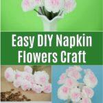 Collage de fleurs en papier de soie