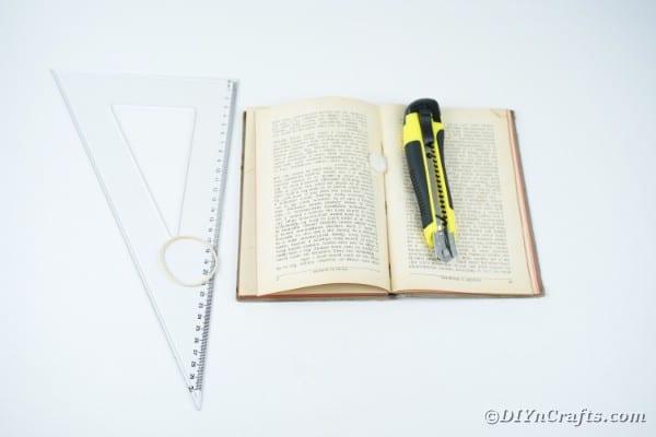 """Fournitures pour ancienne page de livre fleur """"width ="""" 600 """"height ="""" 400 """"srcset ="""" https://cdn.diyncrafts.com/wp-content/uploads/2020/02/old-book-flower-decor-DSC06543. jpg 600w, https://cdn.diyncrafts.com/wp-content/uploads/2020/02/old-book-flower-decor-DSC06543-300x200.jpg 300w """"tailles ="""" (largeur max: 600px) 100vw, 600px"""