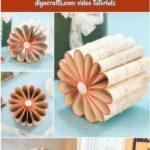 Collage de fleurs de page de livre