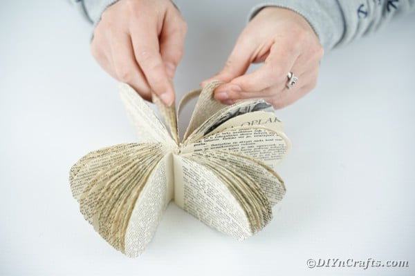 Gluing pumpkin pages