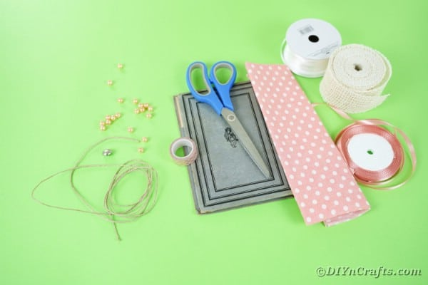 Supplies for making an old book purse