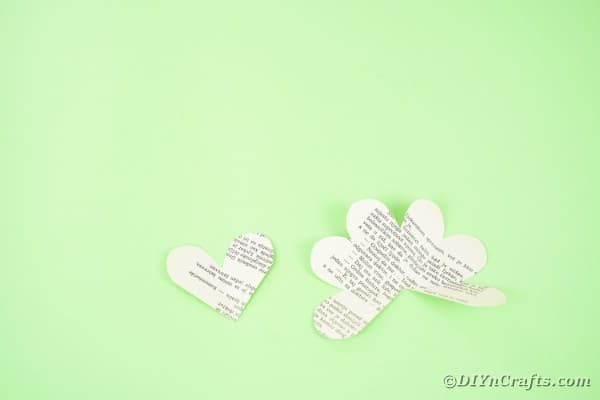 Heart shaped paper