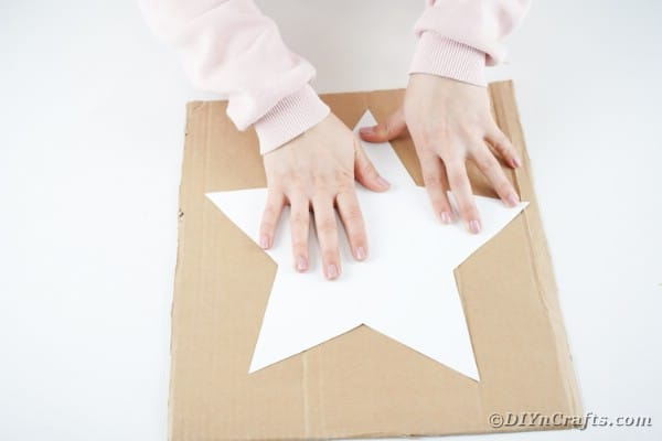 Using star template to create cardboard base
