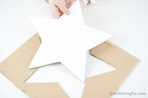 Cutting out cardboard base