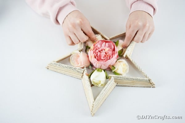 Adding flowers to center of star