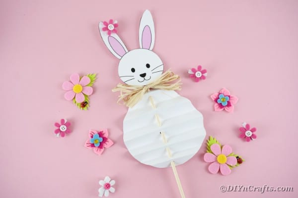 Adorable Paper Bunny Easter Craft - Free Printable