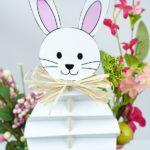 Paper Easter bunny inside flower pot