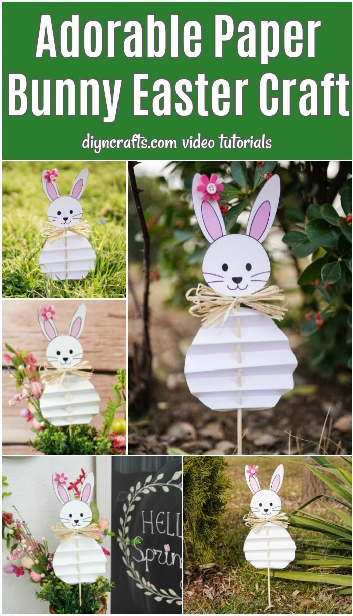Paper Easter bunny craft collage