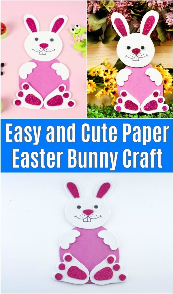 Foam paper Easter bunny collage