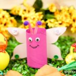Butterfly craft by rubber duckies and flowers