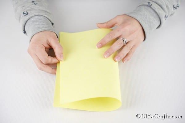 Folding card stock