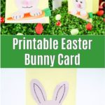 Easter bunny card collage