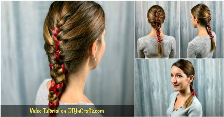 Ribbon braid collage